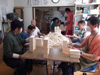 木製ウニ容器の加工