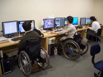 パソコン作業風景