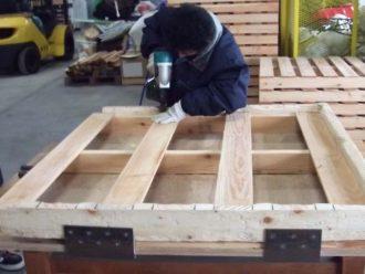 木製パレットの製作