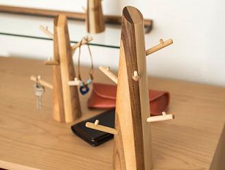 フックの木アクセサリーハンガー(札幌スタイル認証品)